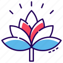 decorative flower, flower, flower design, generic flower, lotus, tropical flower icon