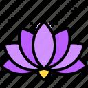 blossom, chakra, flower, hinduism, lotus, nature icon