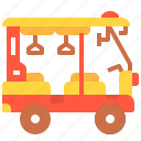 rickshaw, tourism, transportation, tuk, vehicle icon