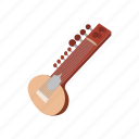 cartoon, india, indian, instrument, music, musical, string icon