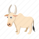 animal, asia, cartoon, cow, india, indian, mammal icon