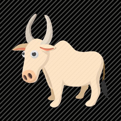 animal, asia, cartoon, cow, india, indian, mammal icon