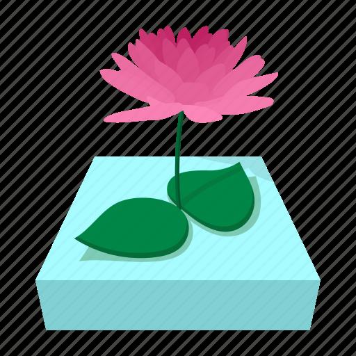 cartoon, flower, india, lily, lotus, pink, plant icon