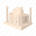 agra, cartoon, dome, india, monument, palace, taj icon