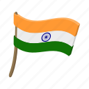 cartoon, country, flag, india, indian, nation, national icon