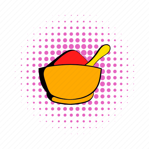 comics, curry, food, india, pepper, powder, spice icon
