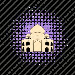 agra, comics, dome, india, monument, palace, taj icon