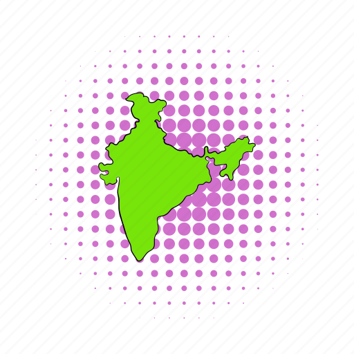 asia, cartography, comics, country, geography, india, map icon