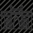 gate, india, landmark, heritage, architecture