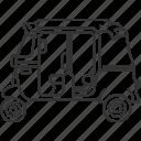 rickshaw, motorbike, vehicle, transportation, public