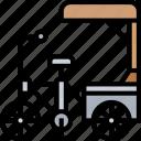 rickshaw, bike, transportation, vehicle, service