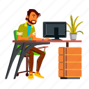 Indian Businessman Office Worker Icons By Pike Picture
