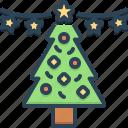 christmas, ribbon, ornament, festival, jesus christ, christmas tree, merry christmas