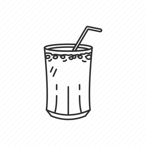 beverage, drink, glass, indian, indian drink, jal-jeera, straw icon