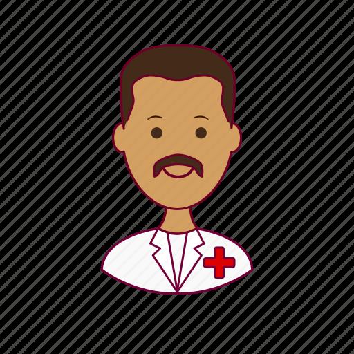 .svg, enfermeiro, india, indian man, job, nurse, profession, professional, profissão icon