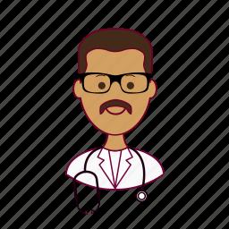 .svg, doctor, doutor, india, indian man, job, médico, profession, professional, profissão icon