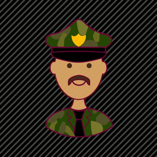 india, indian man, job, militar, military, profession, professional, profissão icon