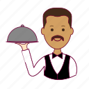 .svg, garçon, india, indian man, job, profession, professional, profissão, waiter icon