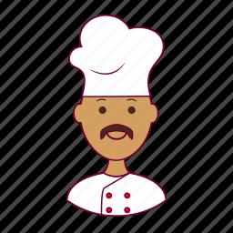 .svg, chef, chefe de cozinha, india, indian man, job, profession, professional, profissão icon
