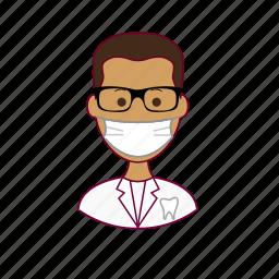.svg, dentist, dentista, india, indian man, job, profession, professional, profissão, teeth, tooth icon