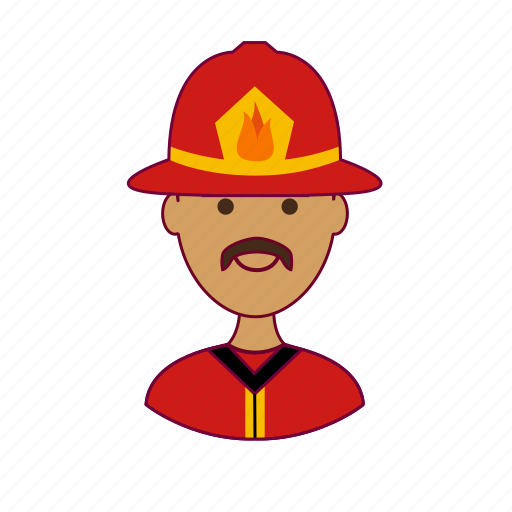 .svg, bombeiro, firefighter, fireman, india, indian man, job, profession, professional, profissão icon