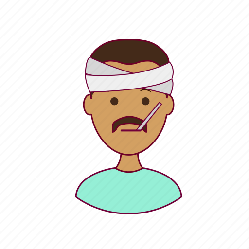 .svg, doente, india, indian man, job, paciente, patient, profession, professional, profissão, sick icon