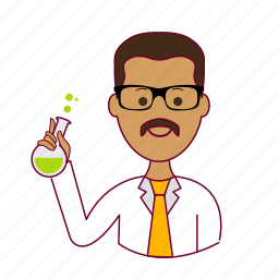 .svg, cientista, india, indian man, job, profession, professional, profissão, scientist icon