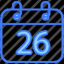 date, 26 janary, event, schedule, calendar, month