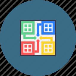 blocks, board, dices, game, ludo, sport icon