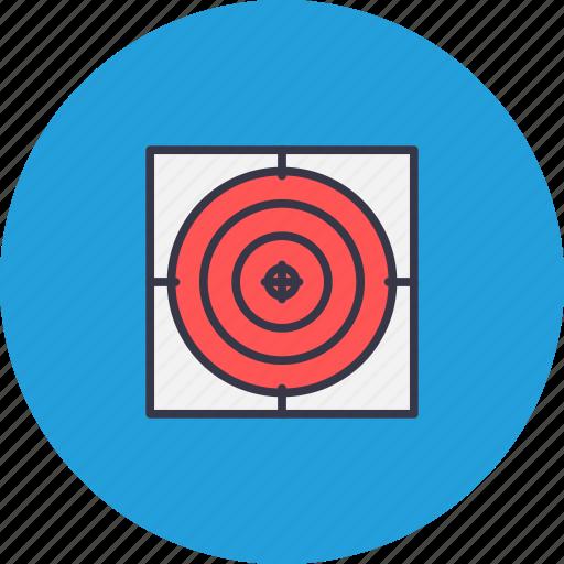 aim, dart, focus, game, illusion, sport, taget icon