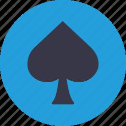 blackjack, card, casino, gamble, playing, spadepoker icon