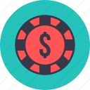 casino, chance, gamble, gambling, roulette, table, wheel icon