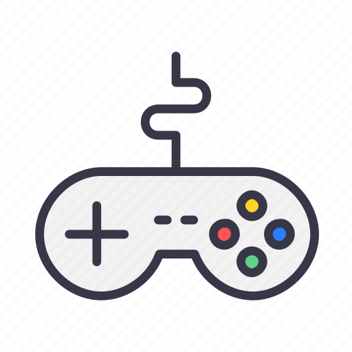 controller, device, game, gamepad, joypad, remote, wire icon