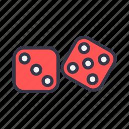 bet, casino, dices, gamble, gambling, game icon
