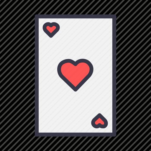 blackjack, card, casino, gamble, heart, playing, poker icon