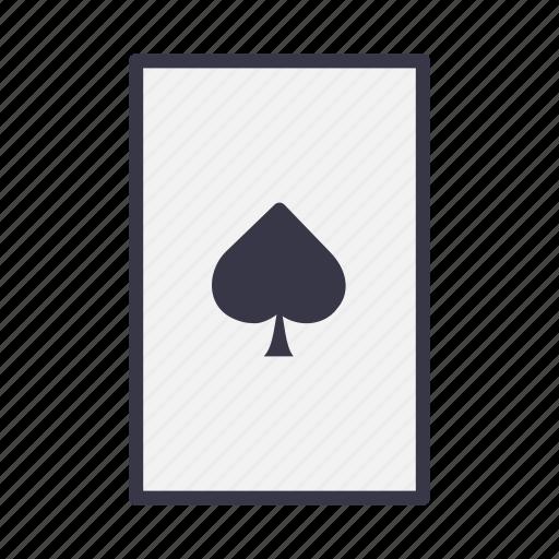 Blackjack, card, casino, gamble, playing, poker, spade icon - Download on Iconfinder