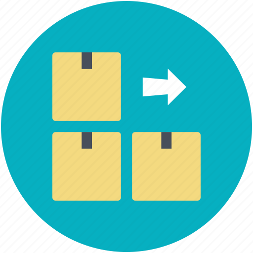 boxes, cardboard boxes, delivery boxes, packages, parcels icon