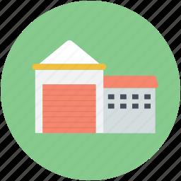 building, factory unit, godwon, real estate, warehouse icon