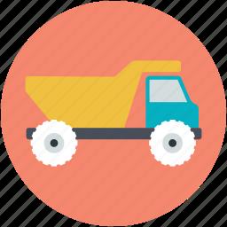 dumper, dumper truck, industrial vehicle, plant machinery, transport icon