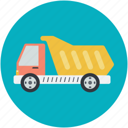 construction, dump truck, transport, truck, vehicle icon
