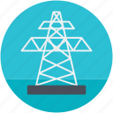 electric pylon, electricity pole, power mast, transmission pole icon