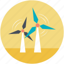 wind energy, wind power, wind turbine, windmill tower, windmills icon
