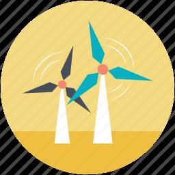 wind energy, wind power, wind turbine, windmill tower, windmills icon