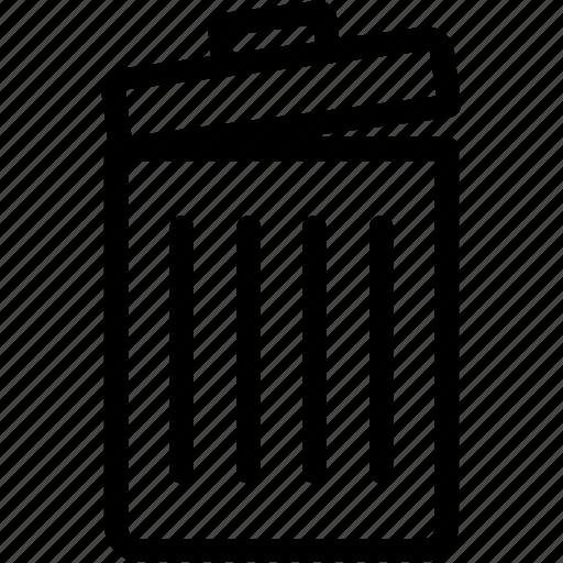 bin, dustbin, garbage can, trash, trash barrel icon