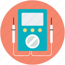 ampere meter, electric circuit, multimeter, voltage, voltmeter icon