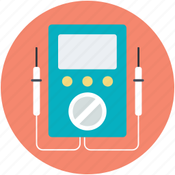 ampere meter, electric circuit, multimeter, voltage, voltmeter icon