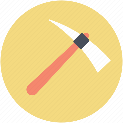 digging tool, hand tool, pick hammer, work tool icon