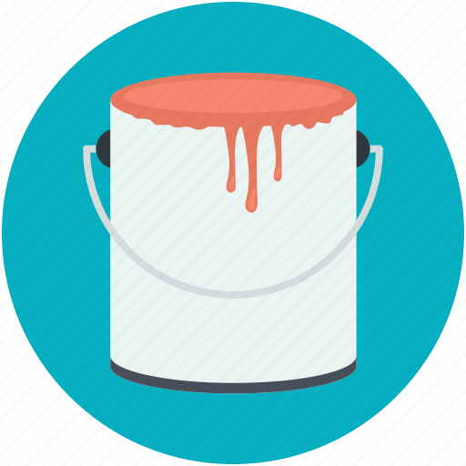 bucket, pail, paint bucket, water, water bucket icon
