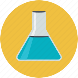 conical flask, erlenmeyer flask, flask, lab experiment, laboratory test icon