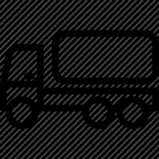 fuel truck, tanker, tanker truck, tanker vehicle, water tanker icon